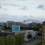 窓から見える札幌ドーム